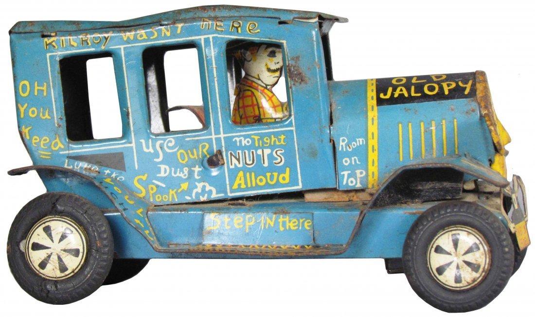 Line Mar Toys Old Jalopy Tin Wind Up Toy