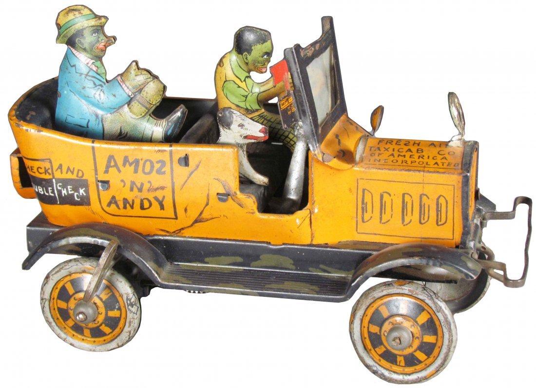 Louis Marx Amos & Andy Fresh Air Tin Taxi Toy