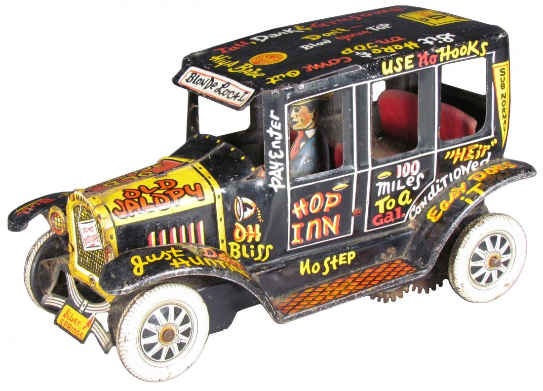 Louis Marx Old Jalopy Tin Wind Up Toy