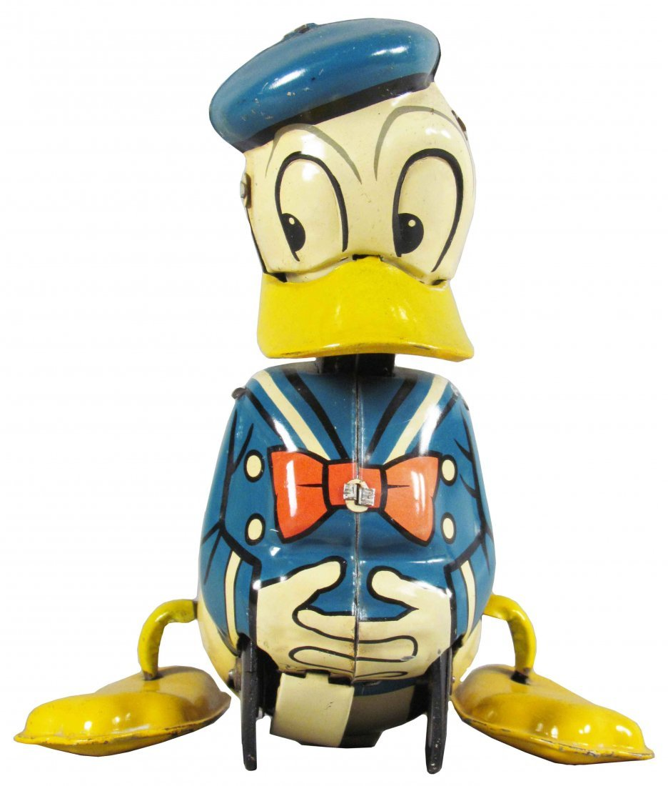 Line Mar Toys Donald Duck Tin Pull Toy