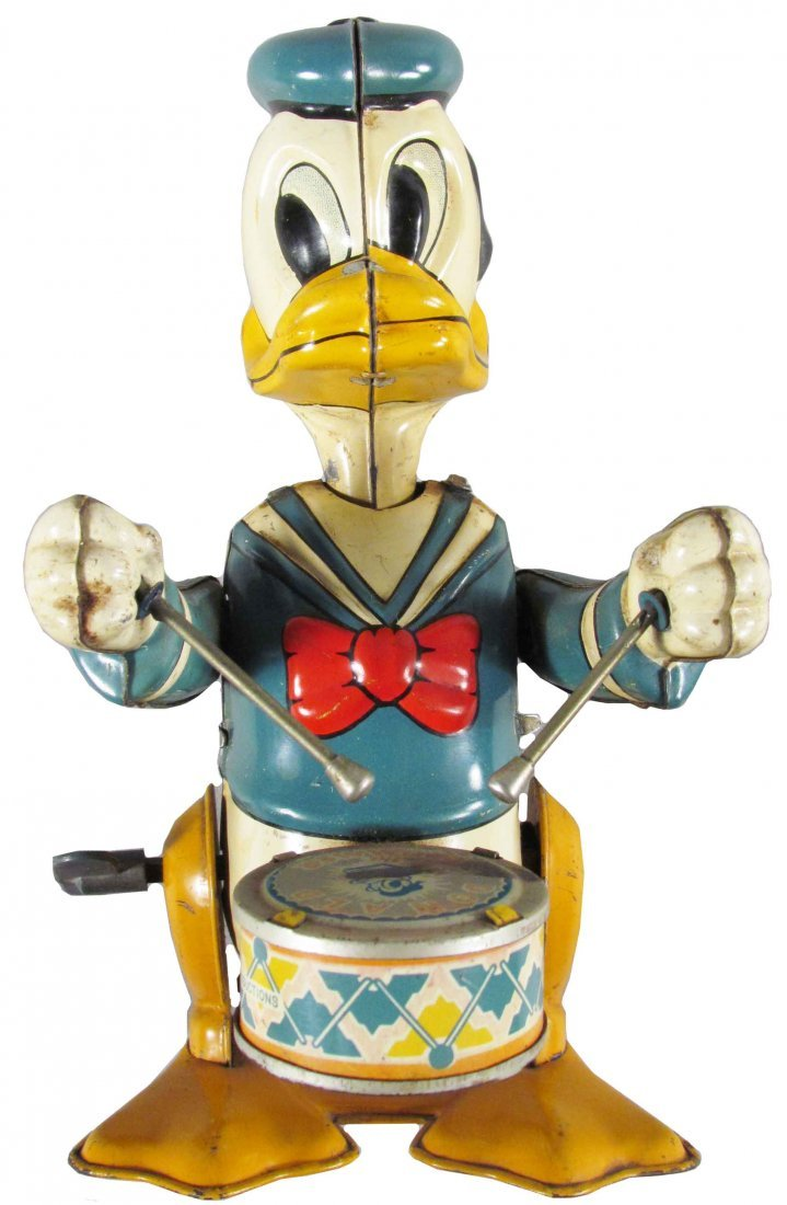 Line Mar Toys Donald Duck Tin Wind Up Toy