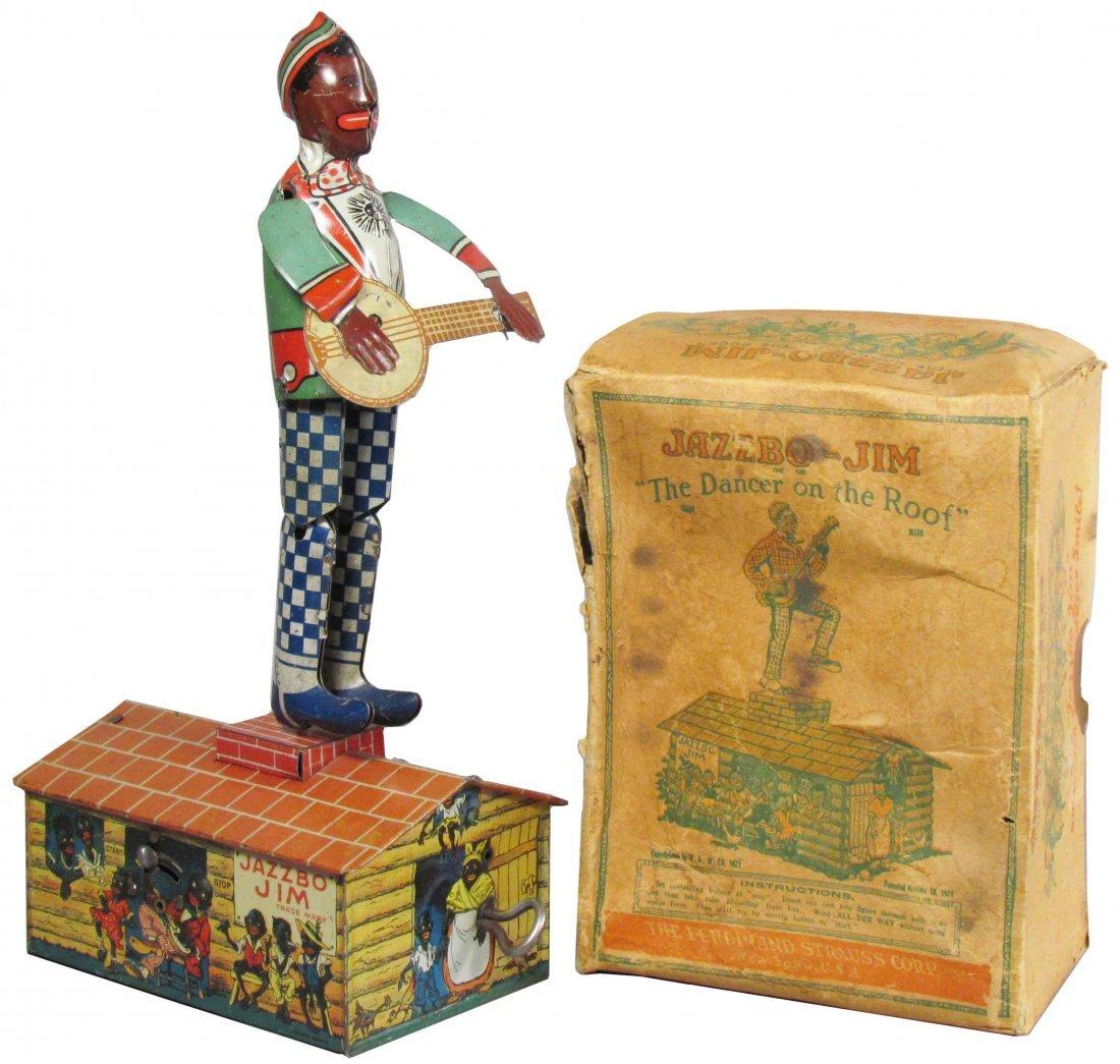 Jazzobo Jim Tin Wind Up Toy in Original Box