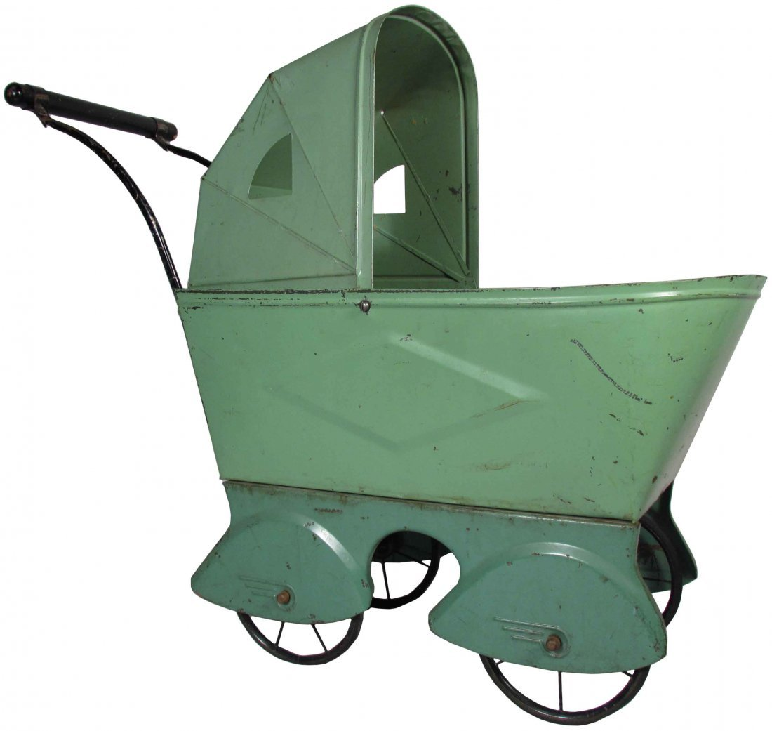 Child's Tin Doll Buggy