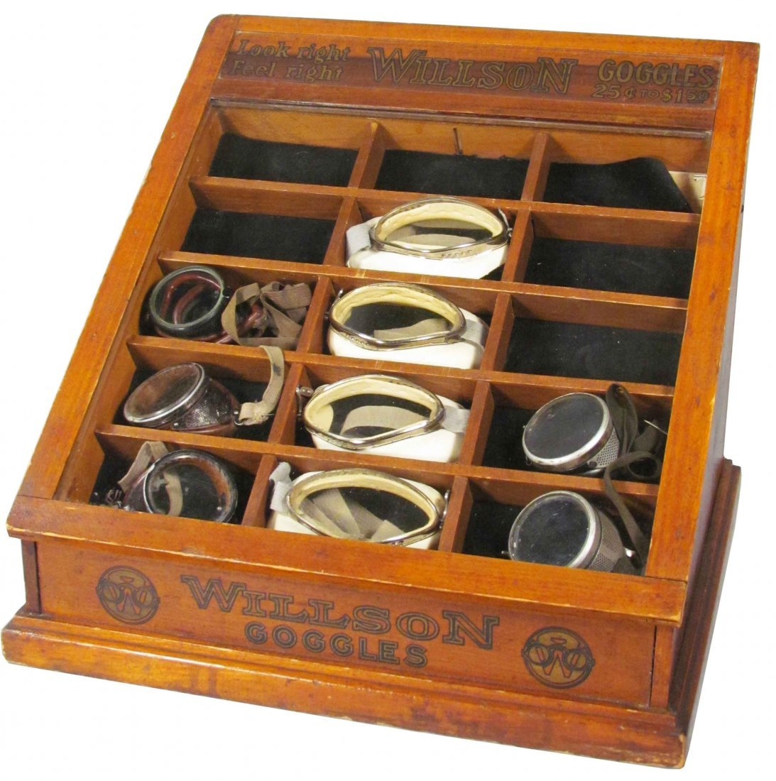 Wilson Goggles Store Display Case