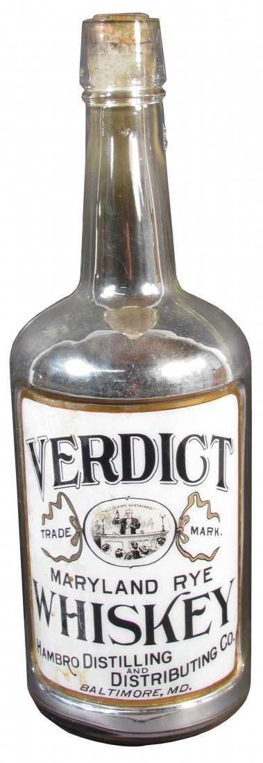 Rare Verdict Whiskey Back Bar Display Bottle