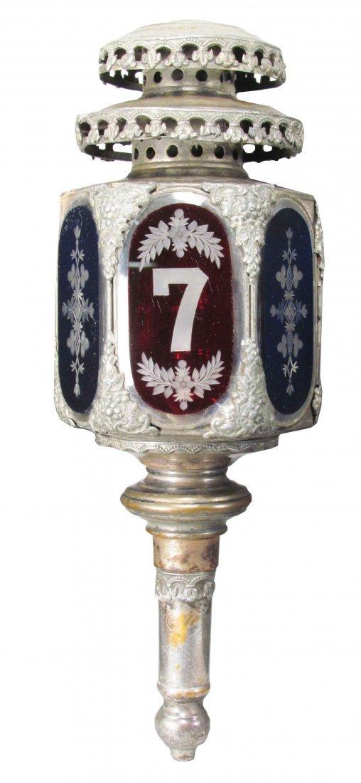 Devoursney Bro's Fire Truck Lamp