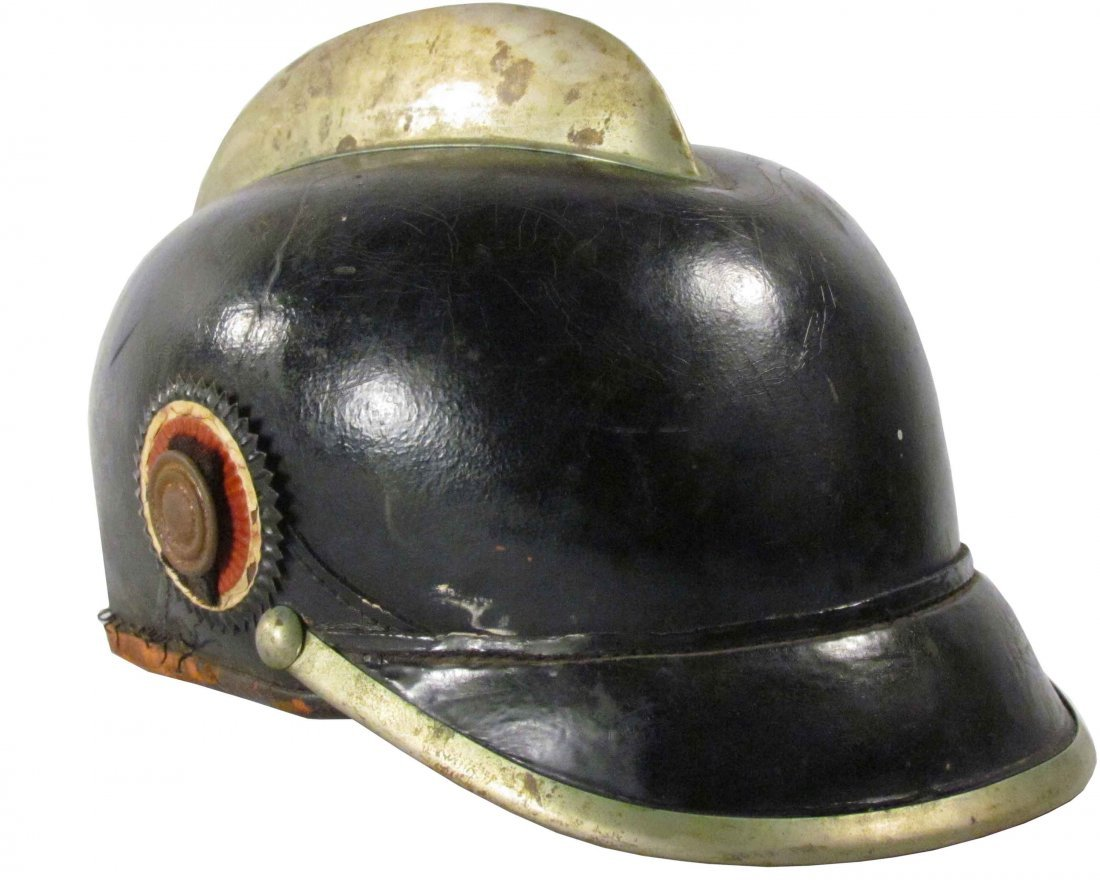 European Leather Fire Helmet