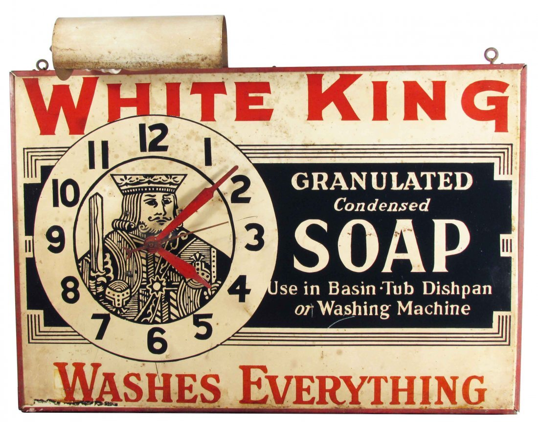 White King Soap Tin Advertising Clock