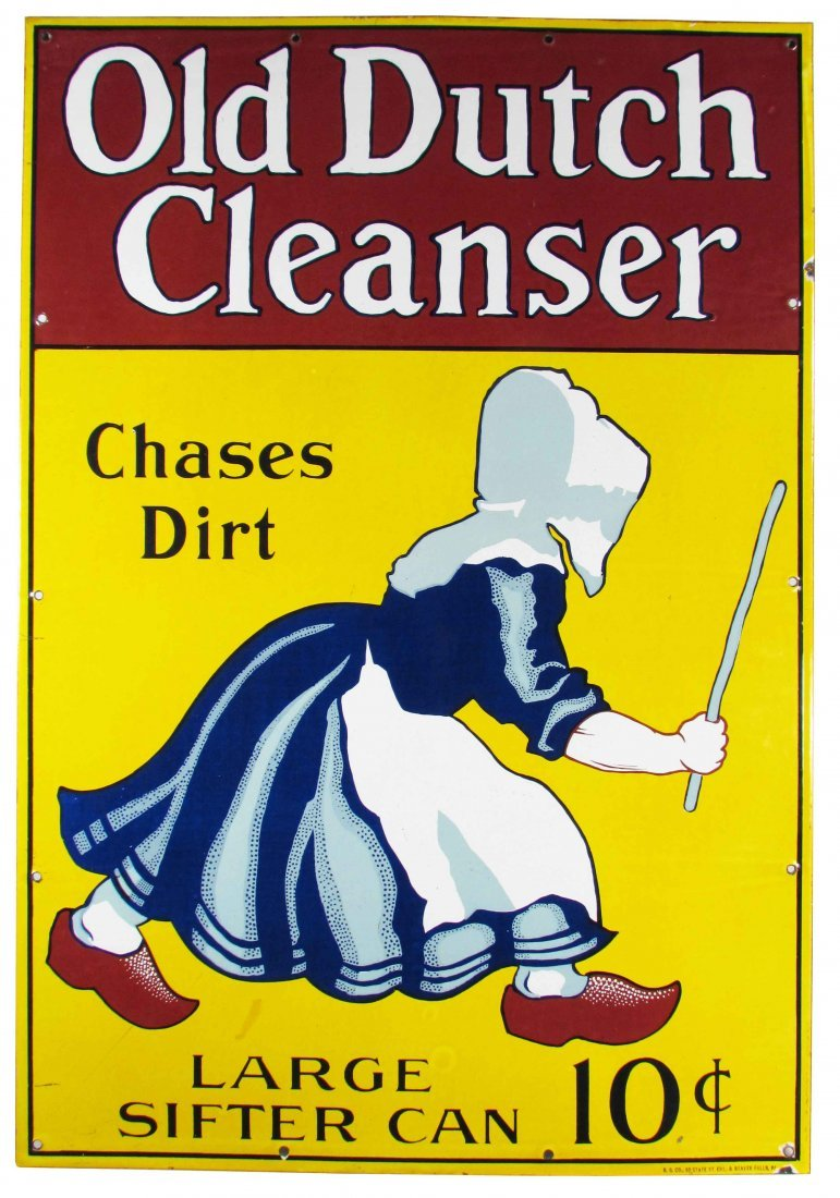 Dutch Cleanser Porcelain Sign