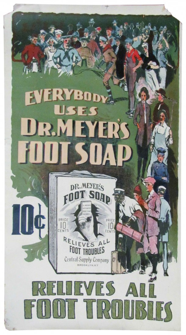 Dr. Meyer's Foot Soap Paper Poster