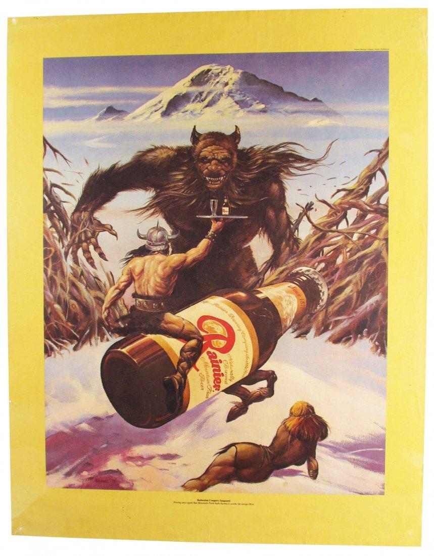 1976 Rainier Beer Paper Poster