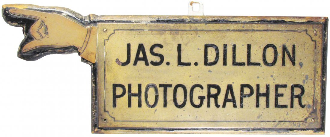 Jas. L. Dillon Photographer Directional Sign