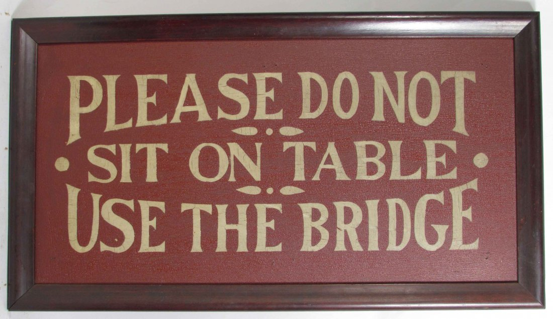 Please Do Not Sit On Table Cardboard Sign