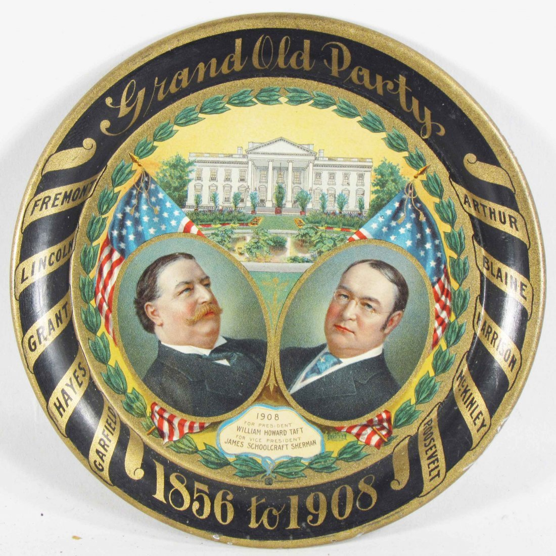 1908 Grand Old Party Tin Tip Tray