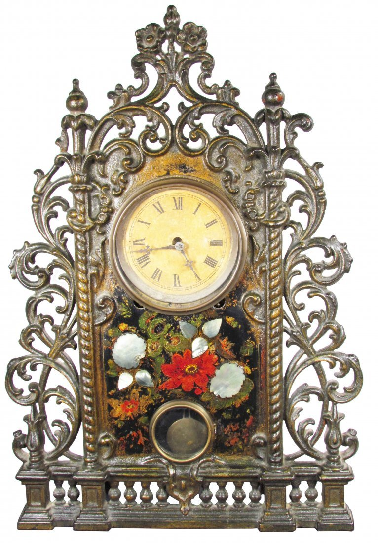 Cast Iron Eight Day Mantle Clock