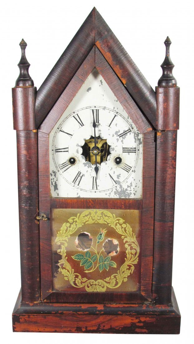 Cathedral Style Wood Clock