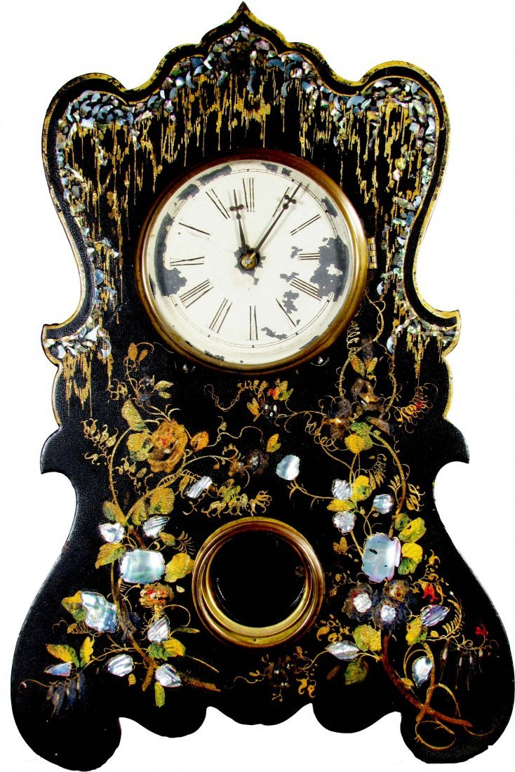 Mother of Pearl Inlay Mantle Clock
