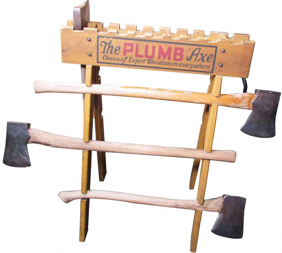 The Plumb Axe Store Display