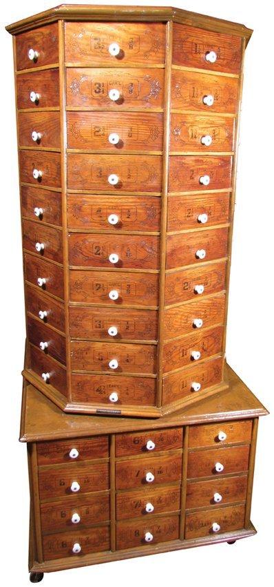 Large Hardware Bolt Cabinet