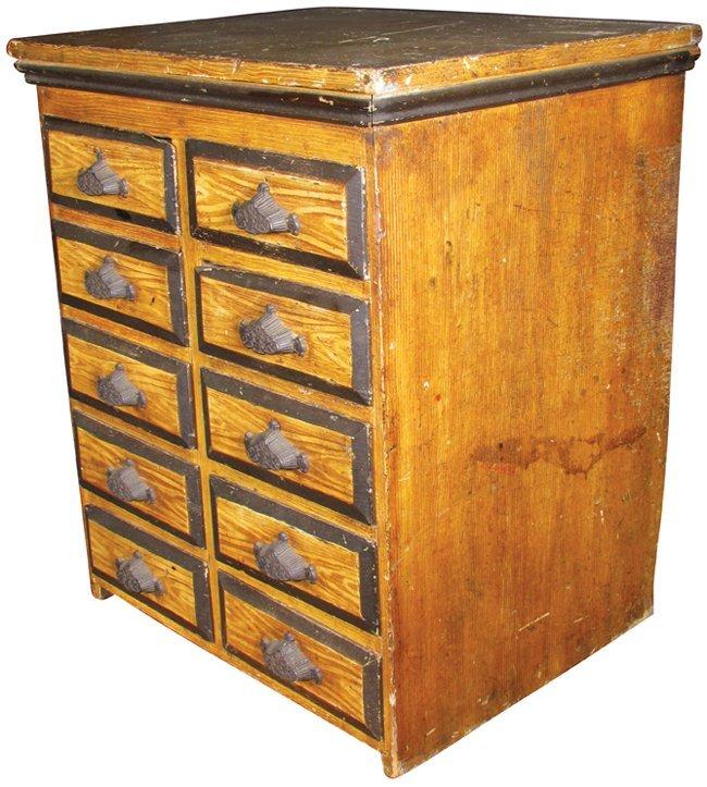 Ten Drawer Wood Screw Cabinet