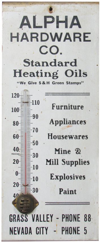 Alpha Hardware Co. Wood Thermometer