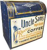 Uncle Sams Roasted Coffee Tin Store Bin