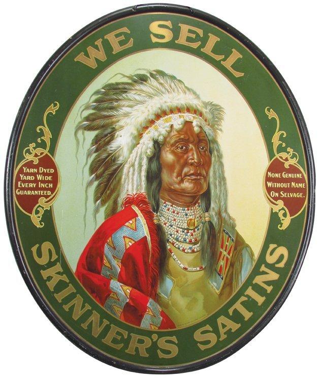 Skinner's Satin Self Framed Tin Sign