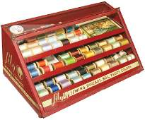 Lily Sewing Threads Tin Store Display