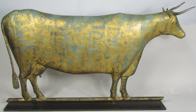 Full Body Long Horn Cow Weathervane