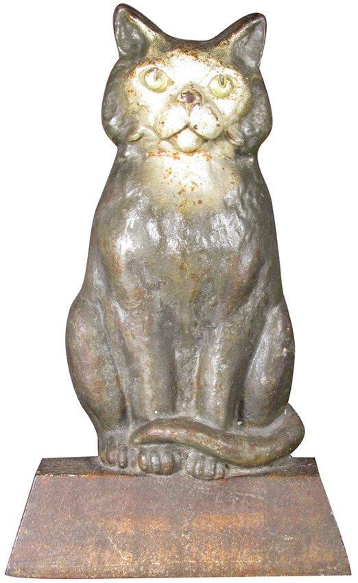 """Cast Iron Figural """"Cat"""" Door Stop"""