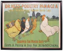 Dr. Hess' Poultry Pan-A-Cea Paper Sign