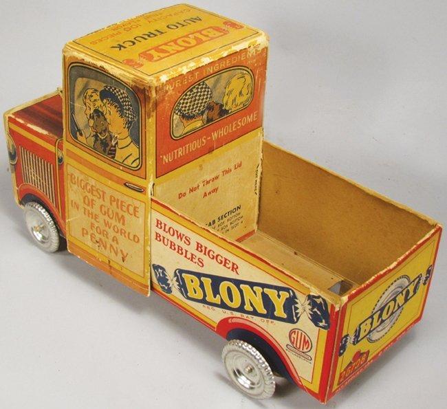 Blony Bubble Gum Cardboard Truck Adv. Display - 2