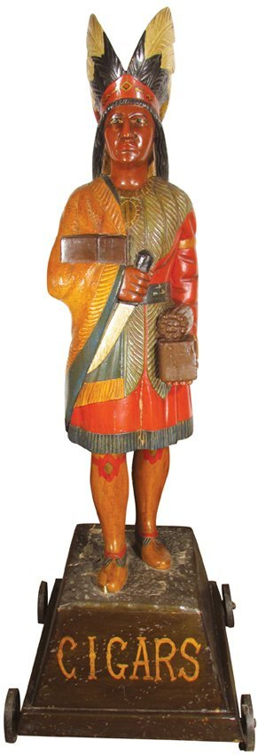 Early Cigar Store Indian attributed to Samual Robb