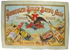 Rare Anheuser-Busch Brew'g Ass'n Tin Sign