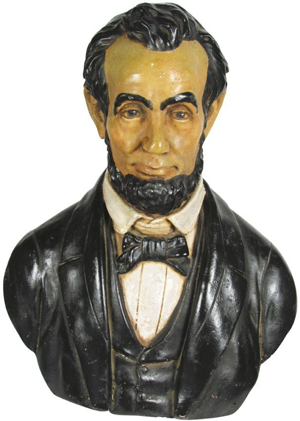 Chalkware Bust of Abraham Lincoln