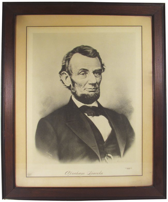 Early Litho Portrait of Abraham Lincoln