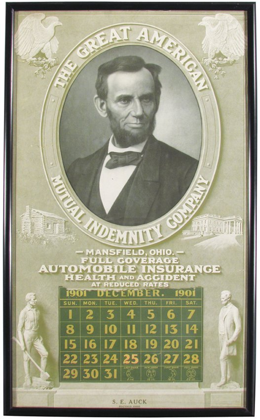 1901 Calendar for Great American Mutual Co.