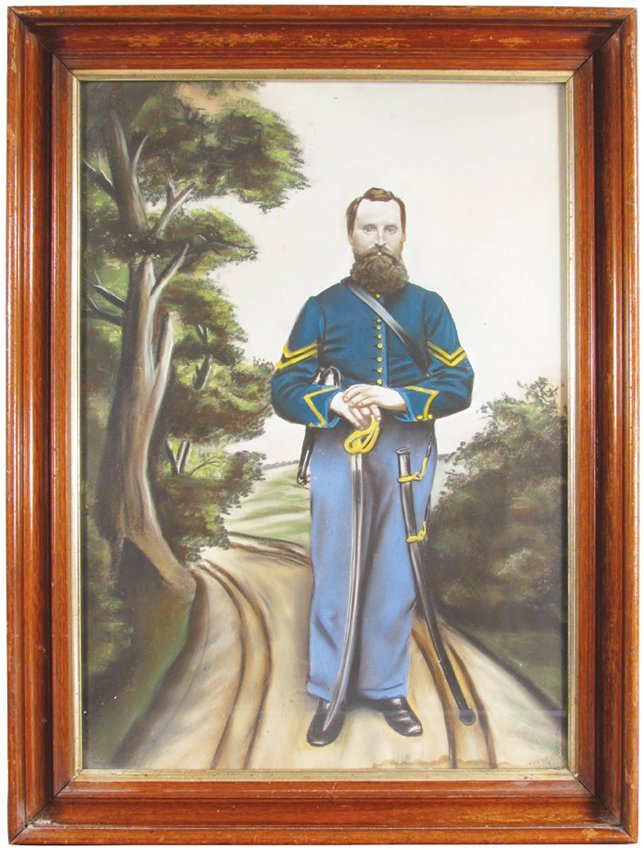 Pastel of Union Soldier