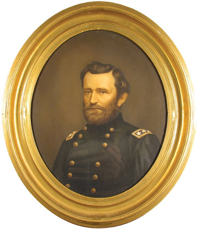 General Ulysses S. Grant Early Lithograph Portrait