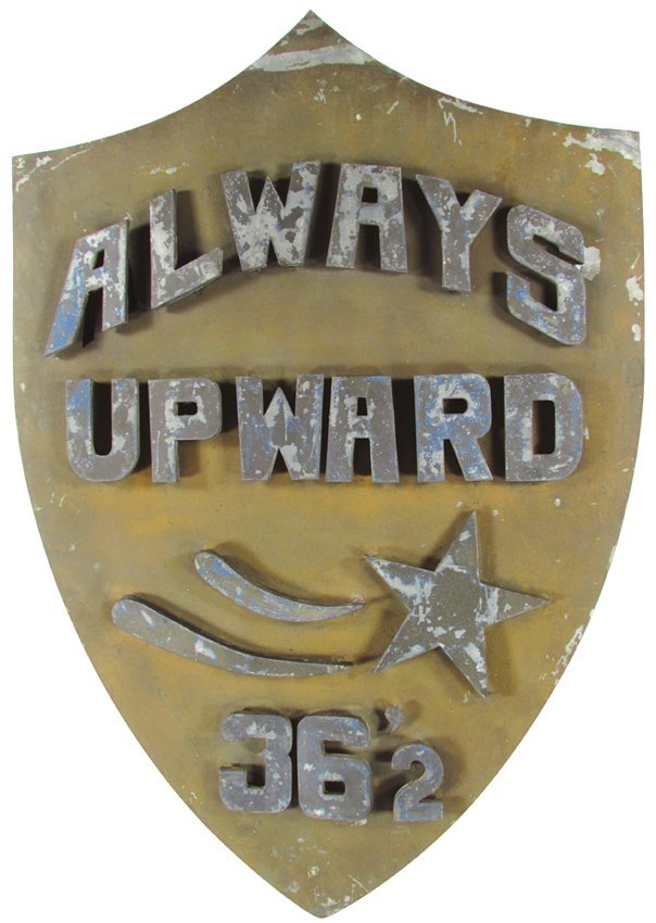 Always Upward Tin Can Sign