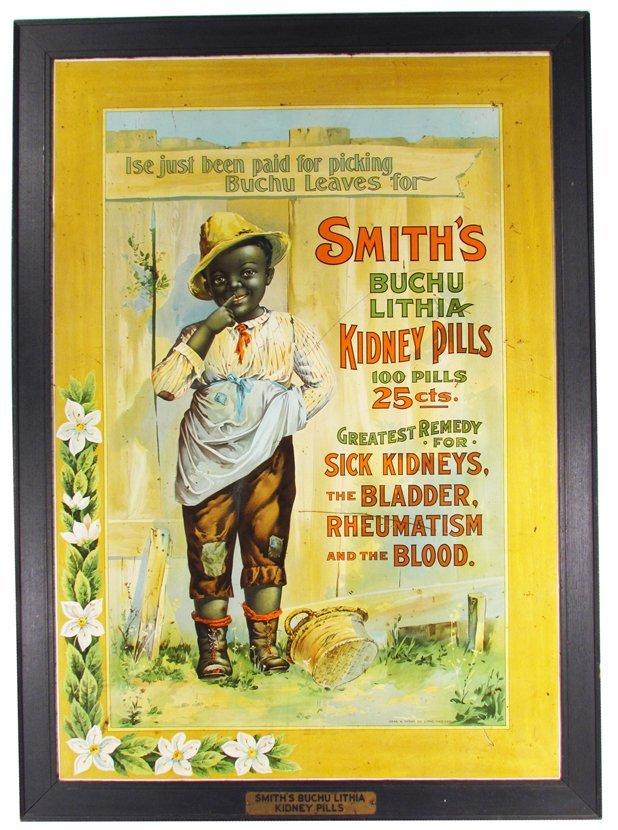 Smith Buchu Lithia Kidney Pills Tin Sign