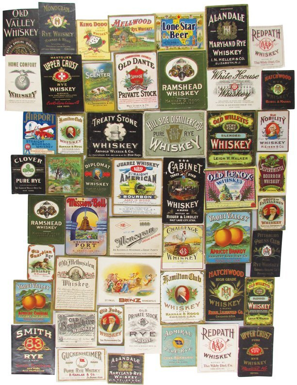 Collection of Approximately 260 Vintage Bottle Labels
