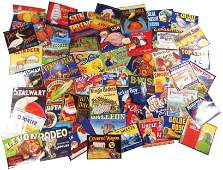 Collection of Approximately 81 Vintage Crate Labels
