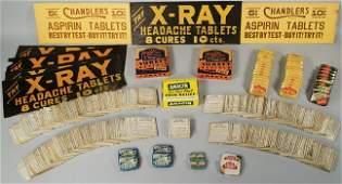 Quantity of Vintage Pharmacy Aspirin Items