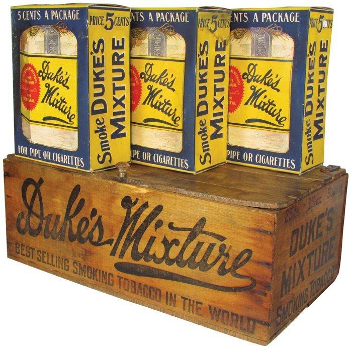Duke's Mixture Wood Crate & Display Boxes and Packs