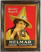 Helmar Turkish Cigarettes Self Framed Tin Sign