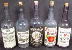 Collection of Antique Whiskey Bottles