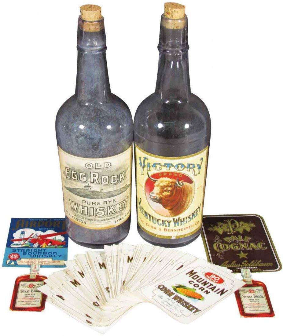 Whiskey Bottles and Bottle Labels
