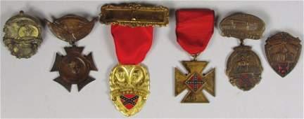 Six United Confederate Veterans Metals
