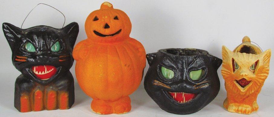 Four Pulp Halloween Lanterns